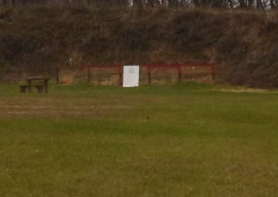 Gun Range Backstop from 100 Yard Range