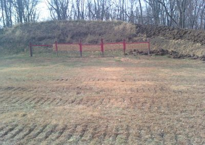 Backstop on Gun Range
